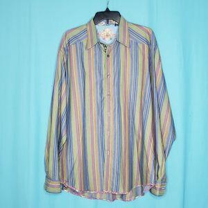 Robert Graham Button Down Shirt size 2XL